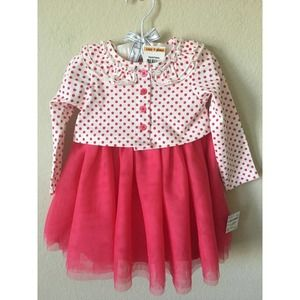 First Impressions Polka Dot Layer Lined Dress Set